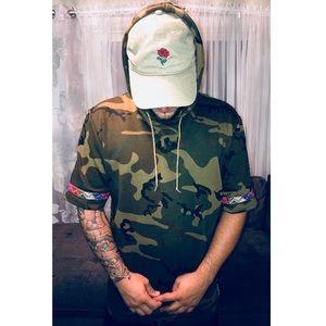 NWOT camo / army short sleeved hoodie